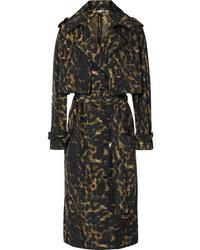 dunkelbrauner Trenchcoat mit Leopardenmuster von Stella McCartney