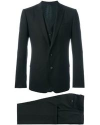 dunkelbrauner Wolldreiteiler von Dolce & Gabbana