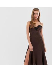 dunkelbraunes Camisole-Kleid von Boohoo