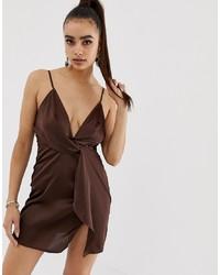 dunkelbraunes Camisole-Kleid von Missguided