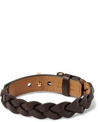 dunkelbraunes geflochtenes Armband