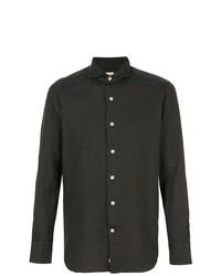 dunkelbraunes Langarmhemd von Alessandro Gherardi