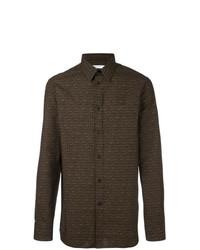 dunkelbraunes Langarmhemd von Givenchy
