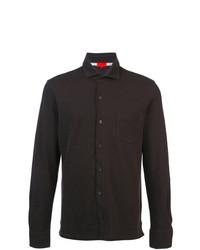 dunkelbraunes Langarmhemd von Isaia