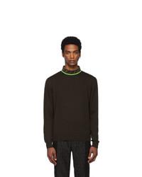 dunkelbraunes Strick Sweatshirt von Fendi