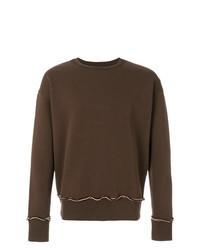 dunkelbraunes Sweatshirt