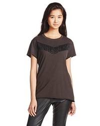 dunkelbraunes T-shirt von Diesel