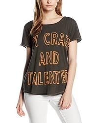 dunkelbraunes T-shirt von The hip Tee