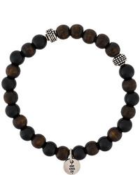 dunkelbraunes Perlen Armband von Eleventy