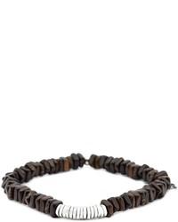 dunkelbraunes verziert mit Perlen Armband von Tateossian