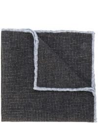 dunkelbraunes Wolleinstecktuch mit Karomuster von Eleventy