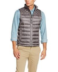 dunkelgraue ärmellose Jacke von Tom Tailor