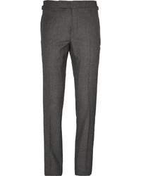 dunkelgraue Anzughose aus Seide