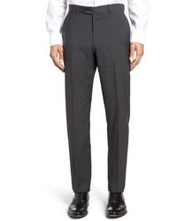 dunkelgraue Anzughose mit Hahnentritt-Muster