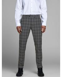 dunkelgraue Anzughose mit Schottenmuster von Jack & Jones
