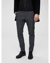 dunkelgraue Anzughose mit Schottenmuster von Selected Homme