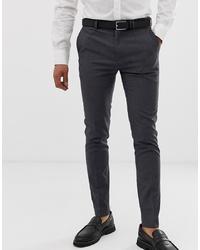 dunkelgraue Anzughose von Burton Menswear