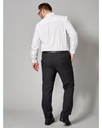 dunkelgraue Anzughose von MEN PLUS BY HAPPY SIZE