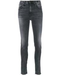 dunkelgraue enge Jeans aus Baumwolle von R 13