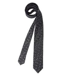 dunkelgraue bedruckte Krawatte von BRUNO BANANI