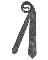 dunkelgraue bedruckte Krawatte von Roy Robson