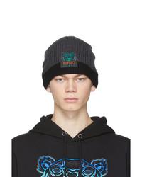 dunkelgraue bedruckte Mütze von Kenzo