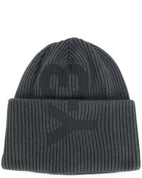 dunkelgraue bedruckte Mütze von Y-3
