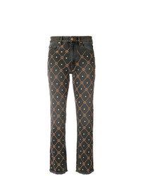 dunkelgraue beschlagene Jeans von Isabel Marant