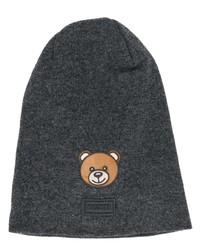 dunkelgraue bestickte Mütze von Moschino