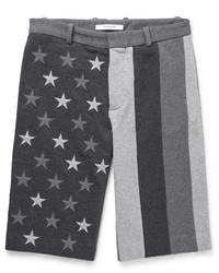 dunkelgraue bestickte Shorts von Givenchy