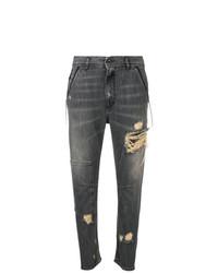 dunkelgraue Boyfriend Jeans mit Destroyed-Effekten von Diesel Black Gold