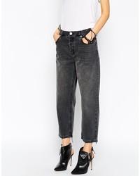 dunkelgraue Boyfriend Jeans von Asos