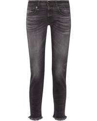 dunkelgraue Boyfriend Jeans von R 13