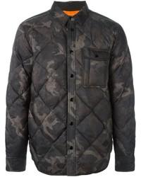 dunkelgraue Camouflage Daunenjacke von rag & bone