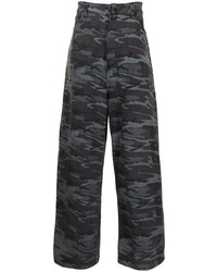 dunkelgraue Camouflage Jeans von Balenciaga