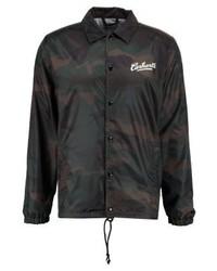 dunkelgraue Camouflage Shirtjacke von Carhartt WIP