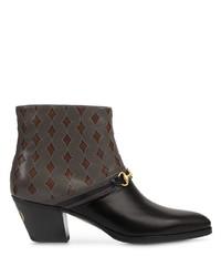dunkelgraue Chelsea Boots aus Leder von Gucci