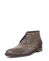 dunkelgraue Chukka-Stiefel aus Leder von SHOEPASSION