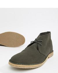 dunkelgraue Chukka-Stiefel aus Wildleder von ASOS DESIGN
