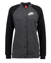 dunkelgraue Collegejacke von Nike
