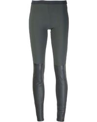 dunkelgraue enge Hose aus Leder von Ilaria Nistri