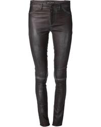 dunkelgraue enge Hose aus Leder von Sylvie Schimmel