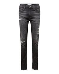 dunkelgraue enge Jeans mit Destroyed-Effekten von Calvin Klein