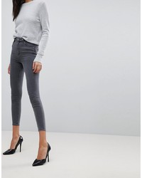 dunkelgraue enge Jeans von ASOS DESIGN