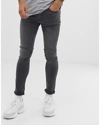 dunkelgraue enge Jeans von Burton Menswear