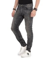 dunkelgraue enge Jeans von Cipo & Baxx