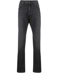 dunkelgraue enge Jeans von Ermenegildo Zegna