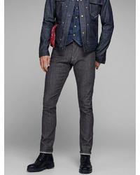 dunkelgraue enge Jeans von Jack & Jones
