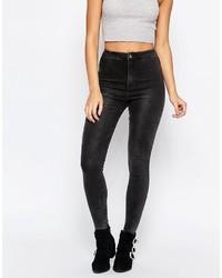 dunkelgraue enge Jeans von Missguided