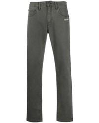 dunkelgraue enge Jeans von Off-White